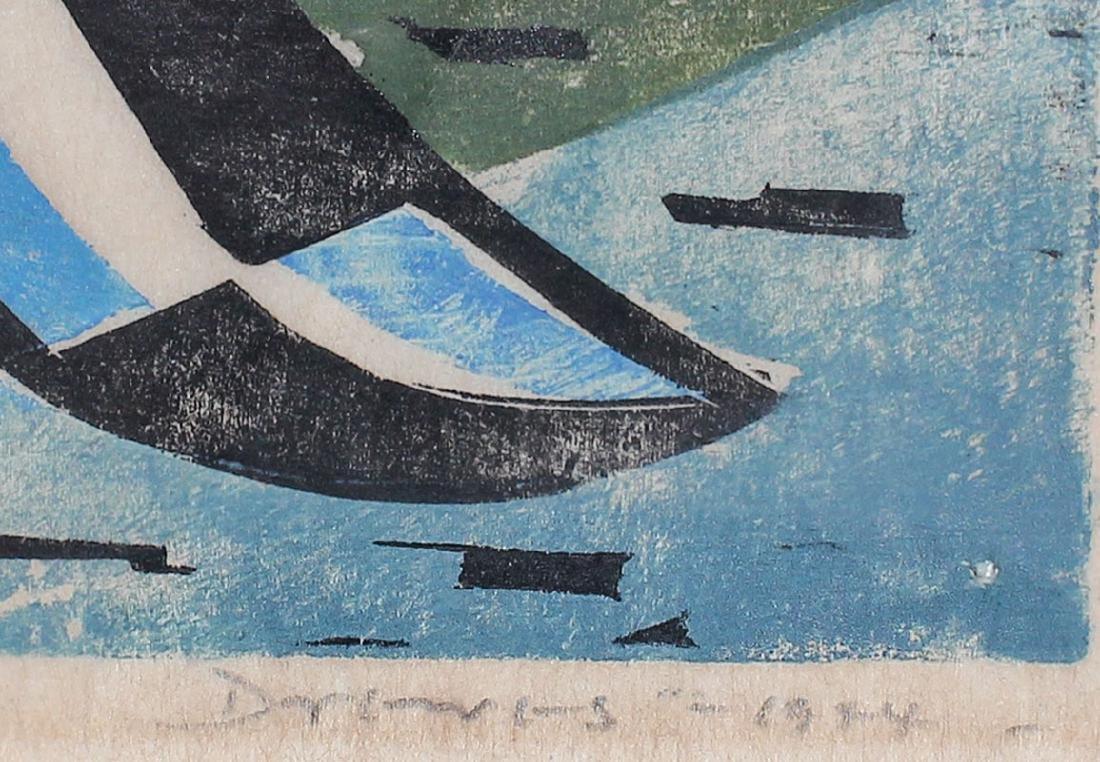 WERNER DREWES WOOCUT ''INNER TROPICAL SEAS'' 1944 - 4