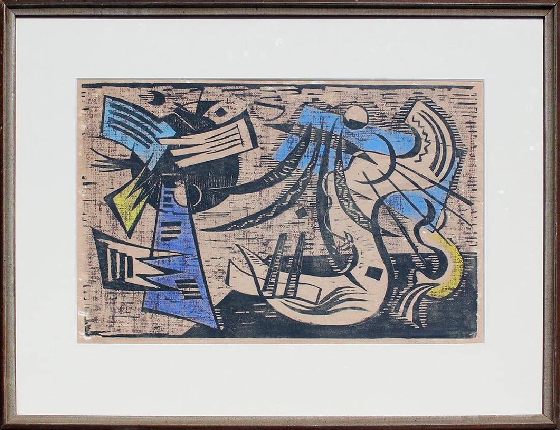 WERNER DREWES WOODCUT ''NORTHERN TRANSITION'' - 2