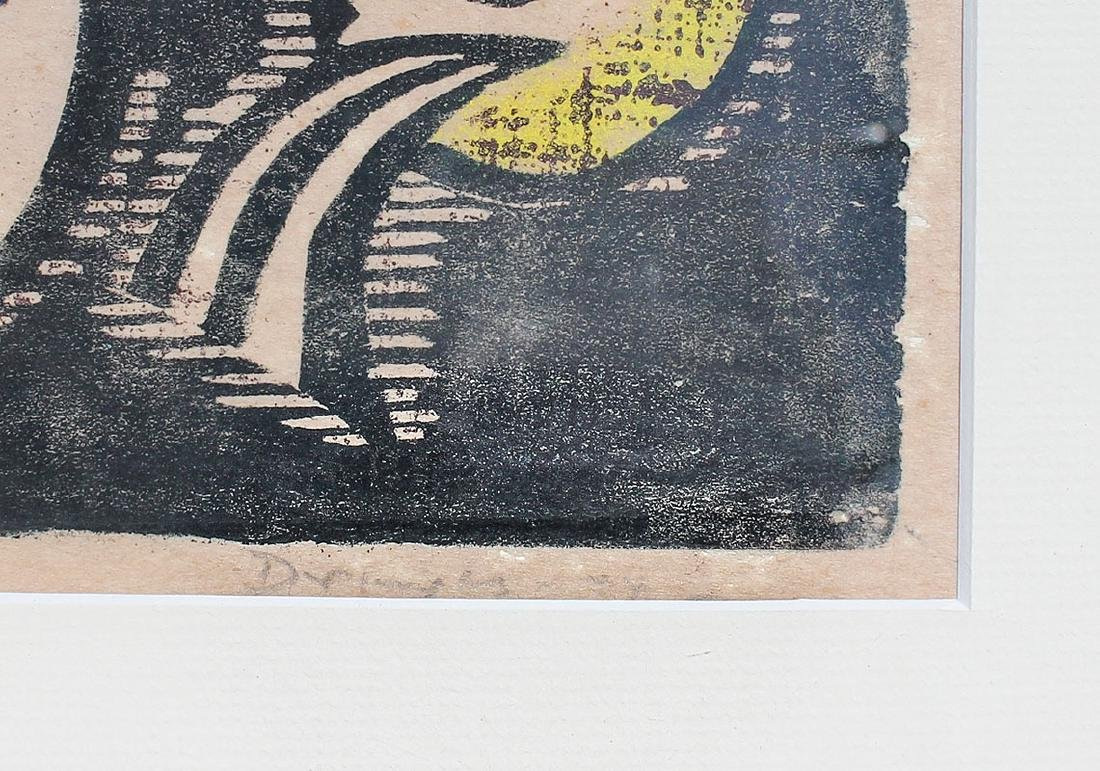 WERNER DREWES WOODCUT ''NORTHERN TRANSITION'' - 4