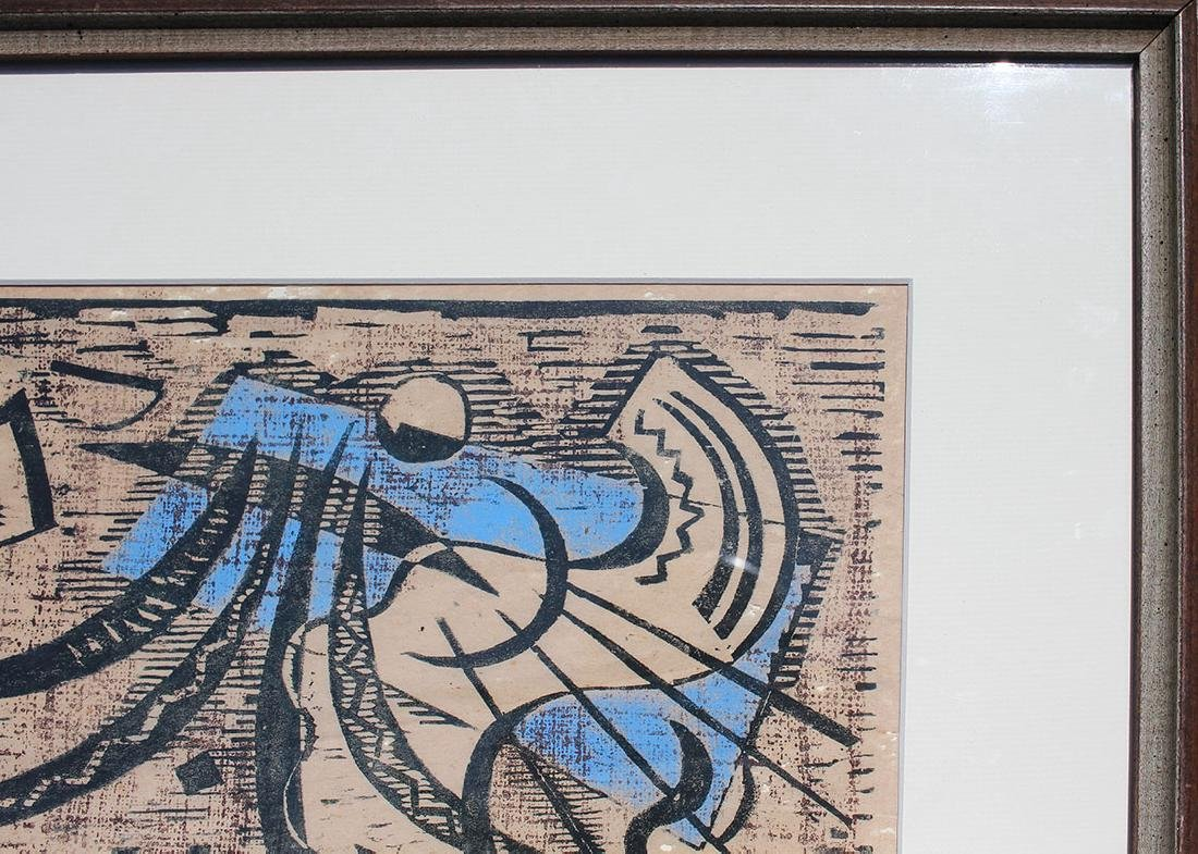 WERNER DREWES WOODCUT ''NORTHERN TRANSITION'' - 5