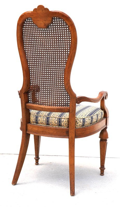 6 DREXEL MARCHESA CANE BACK DINING CHAIRS - 3