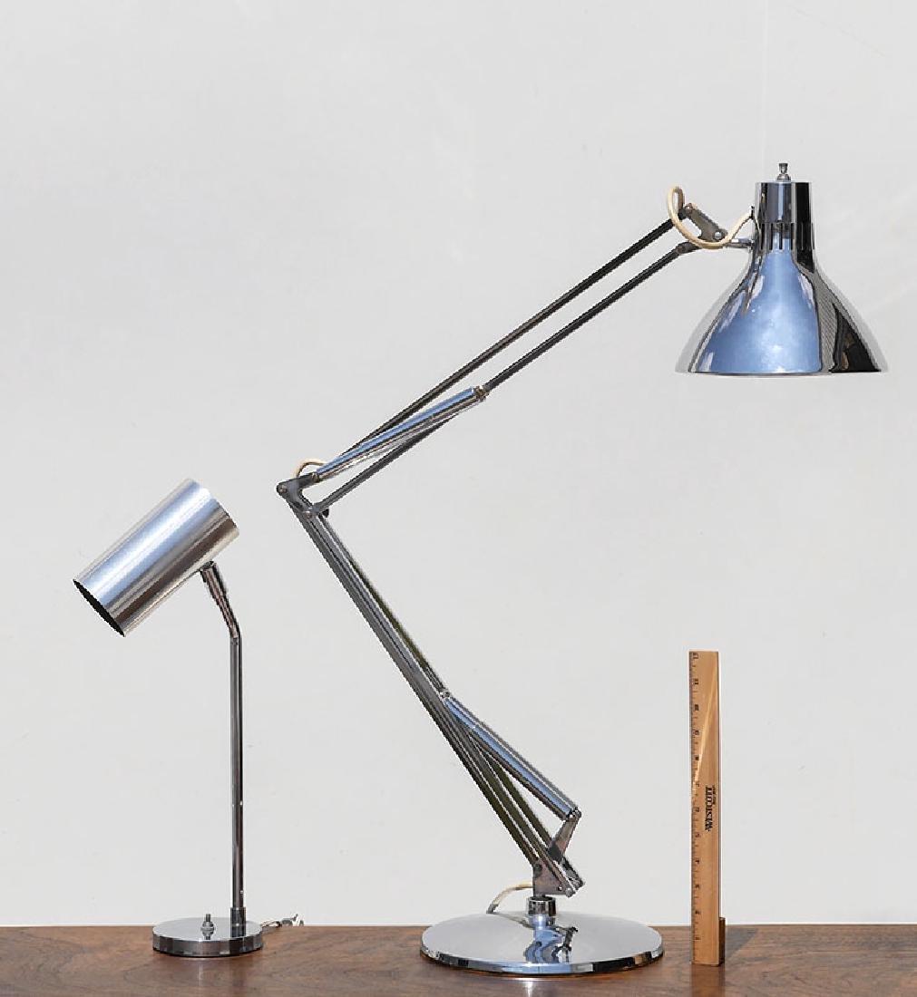 2 CHROME DESK LAMPS LUXO, KOCH & LAW - 2