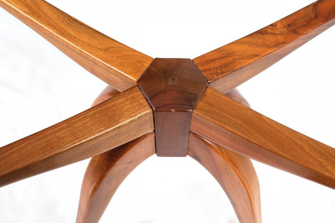 MID CENTURY TEAK SPIDER LEG SIDE TABLE - 3