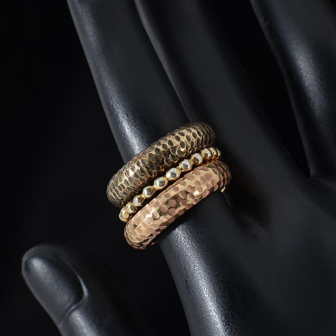 STYLISH 14K STACKING RINGS - 2
