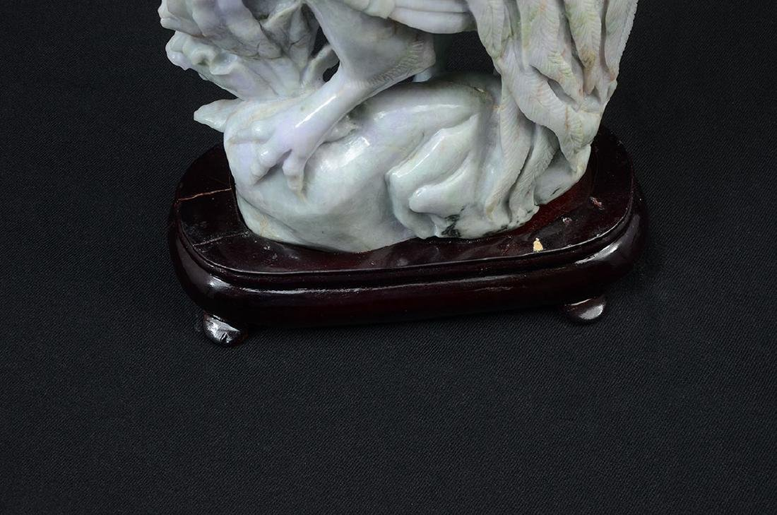 CHINESE CARVED JADEITE ROOSTER - 4
