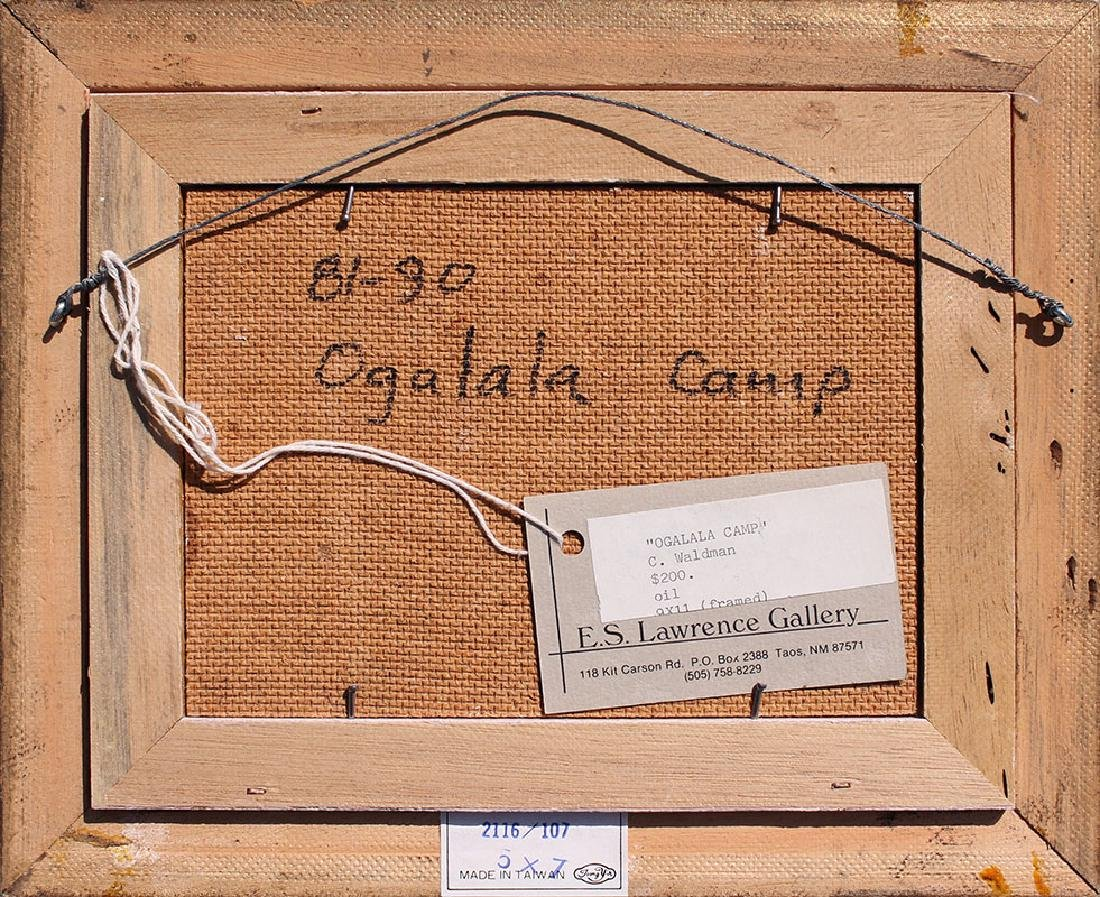 CHARLES WALDMAN OGALALA CAMP PAINTING - 4