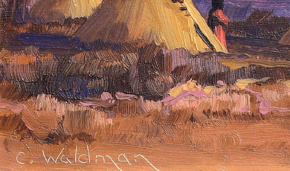 CHARLES WALDMAN PAINTING ''DAYS END'' - 3
