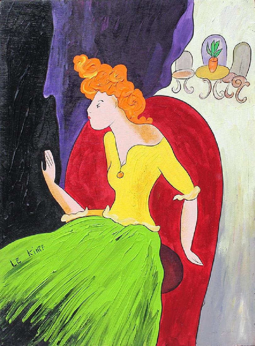 LINDA LE KINFF PAINTING OF A REDHEAD