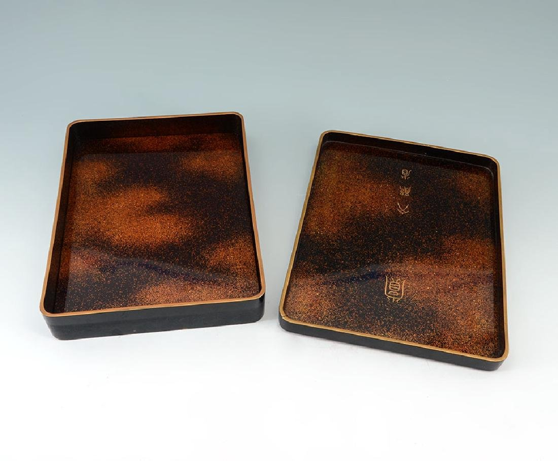 2 CHINOISERIE & OTHER BLACK LACQUER BOXES - 3