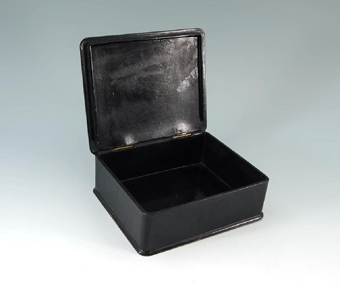 2 CHINOISERIE & OTHER BLACK LACQUER BOXES - 7