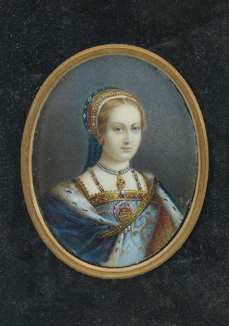 MINIATURE PAINTING OF A ROYAL FEMALE