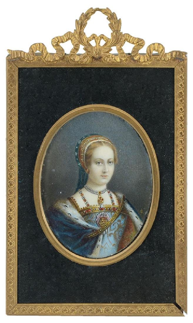 MINIATURE PAINTING OF A ROYAL FEMALE - 2