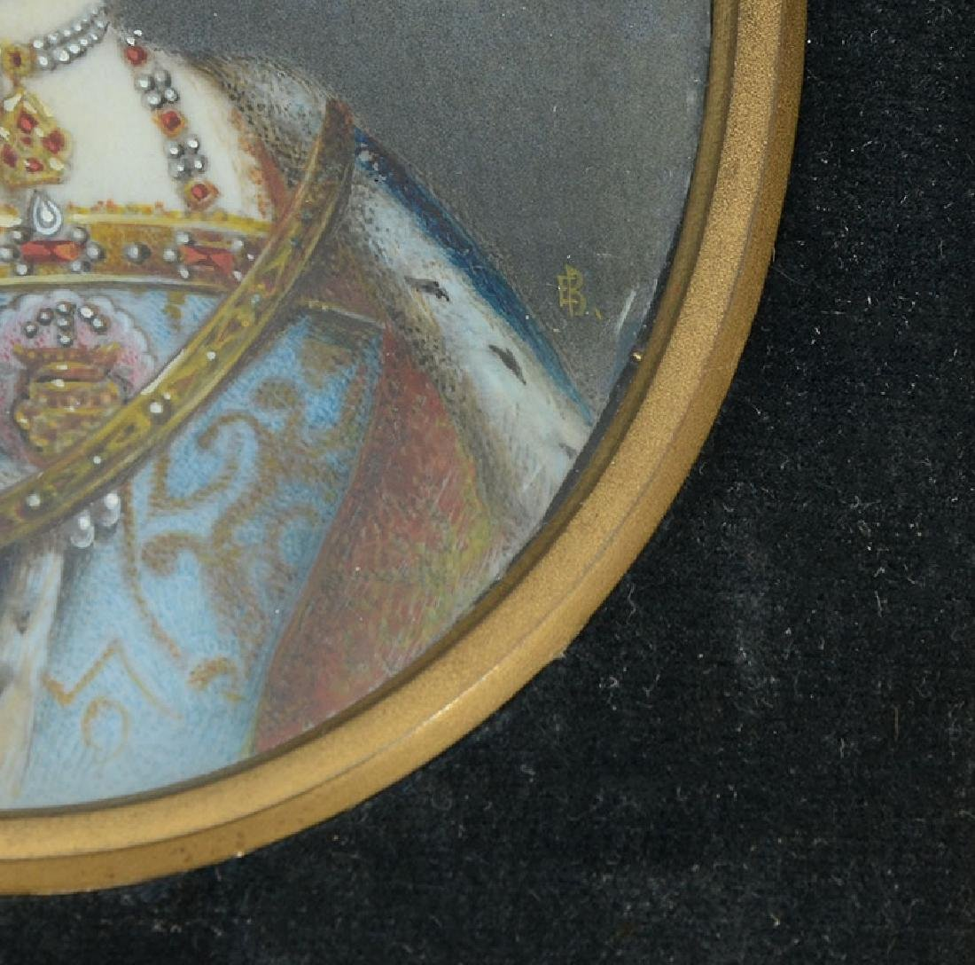 MINIATURE PAINTING OF A ROYAL FEMALE - 3