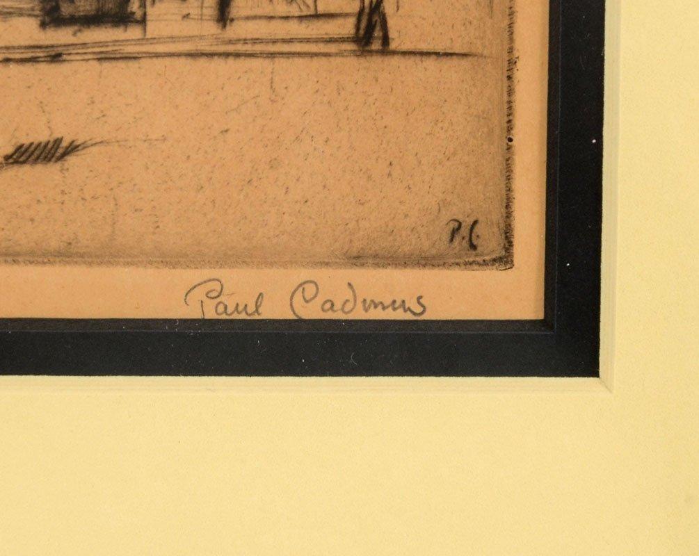 """PAUL CADMUS ETCHING """"WEST STREET"""" - 3"""