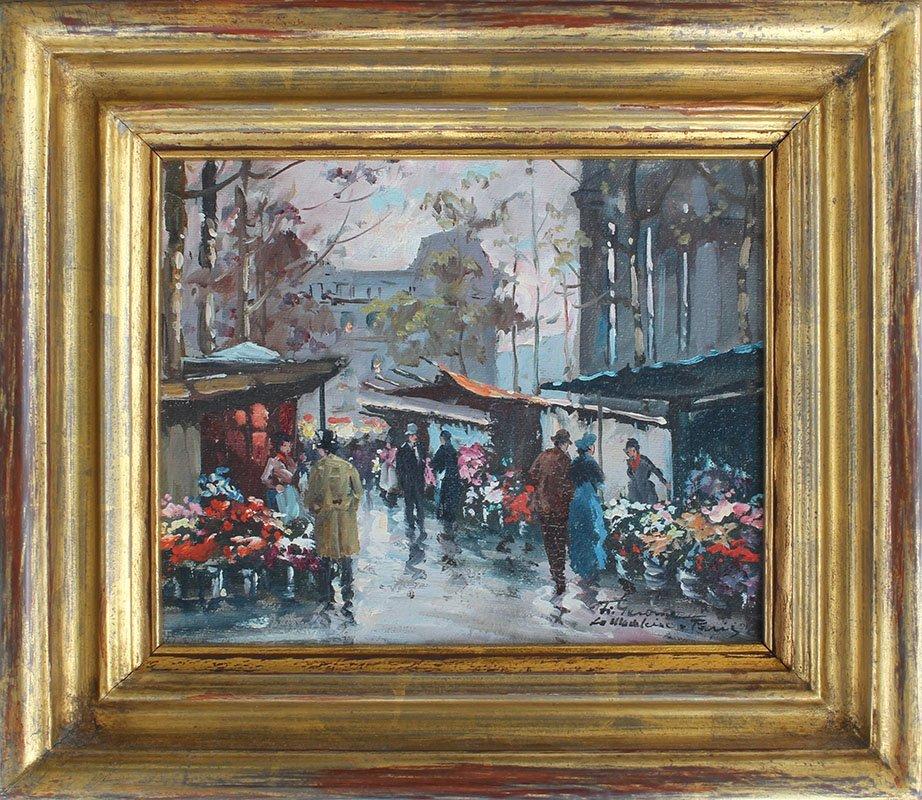 FRANCOIS GEROME LA MADELEINE-PARIS PAINTING - 2
