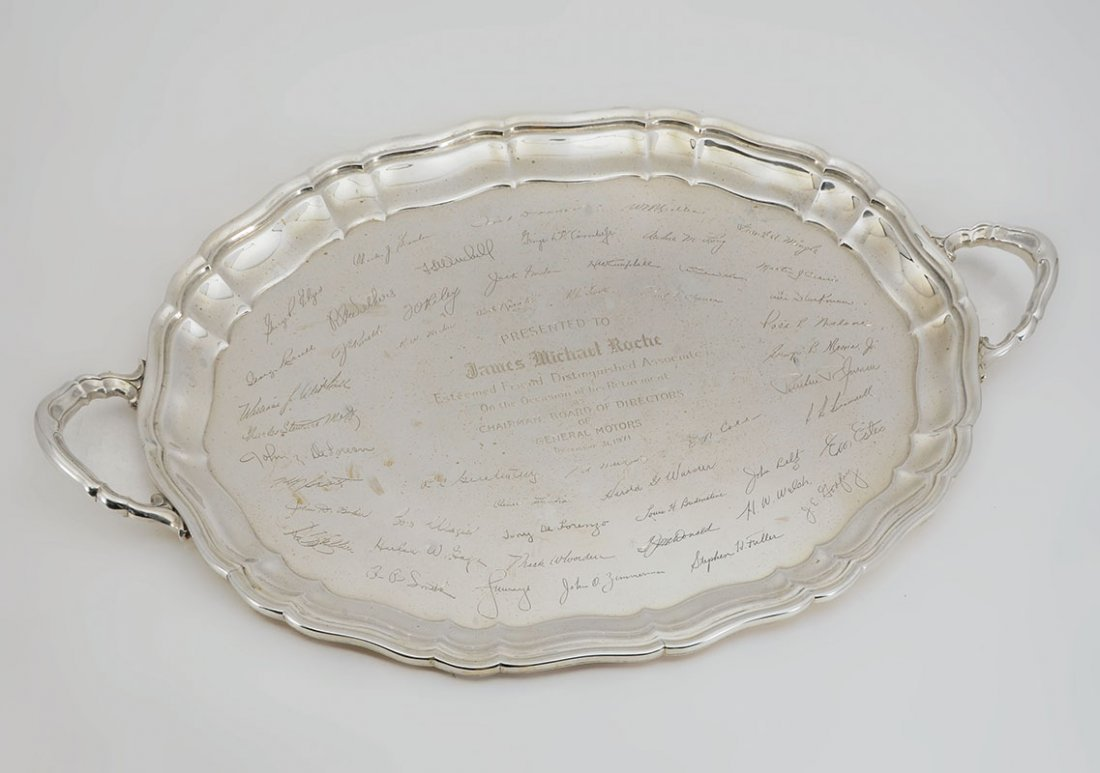 IMPORTANT JAMES ROCHE STERLING PRESENTATION TRAY