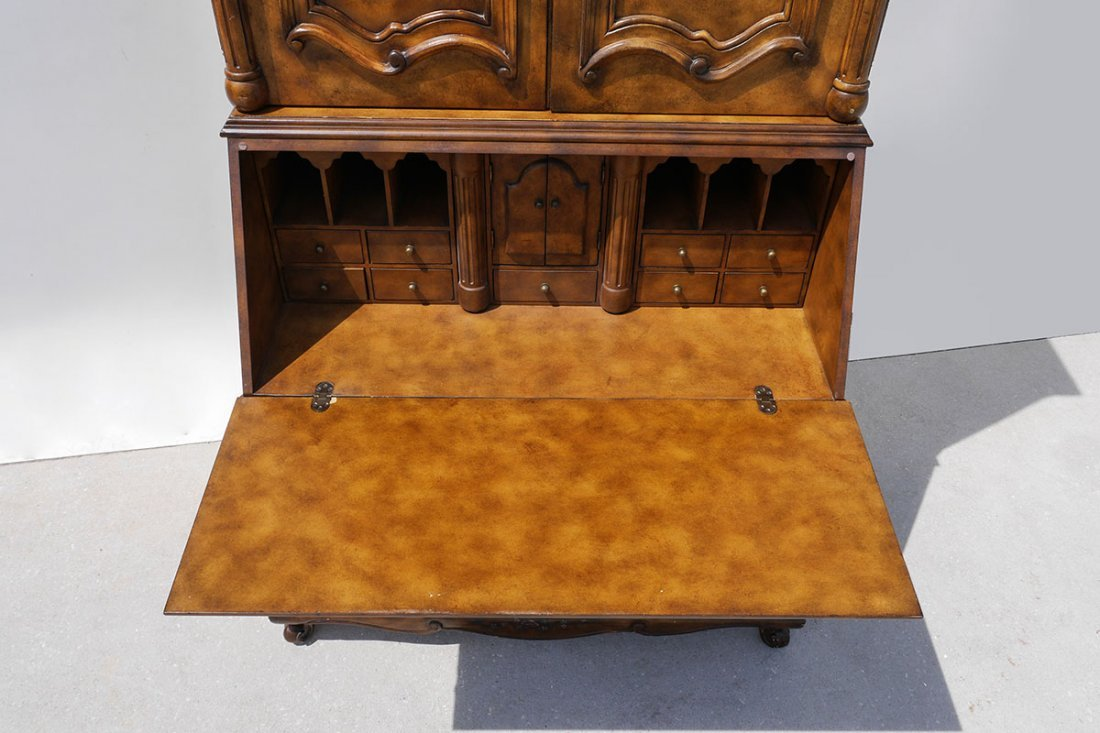 HOOKER FURNITURE DROP FRONT SECRETARY DESK - 3