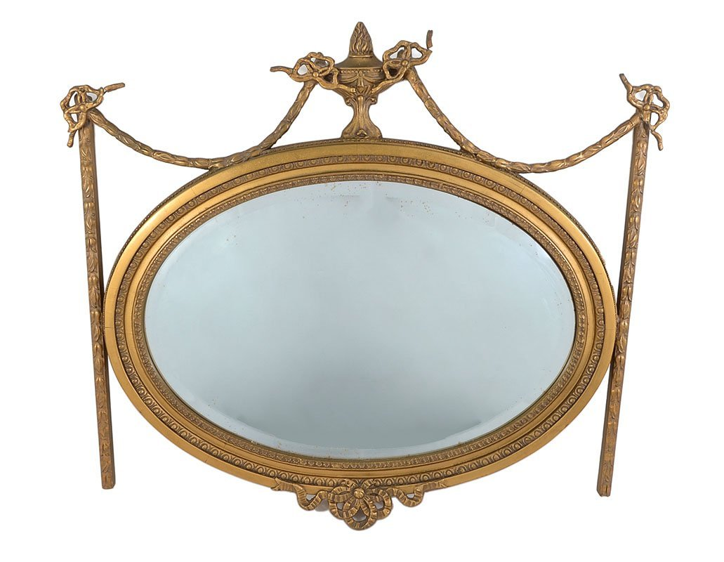 FRENCH EMPIRE GESSO WALL MIRROR