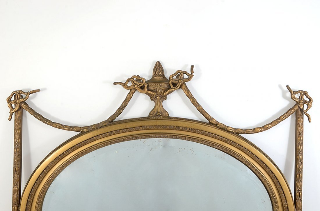 FRENCH EMPIRE GESSO WALL MIRROR - 2