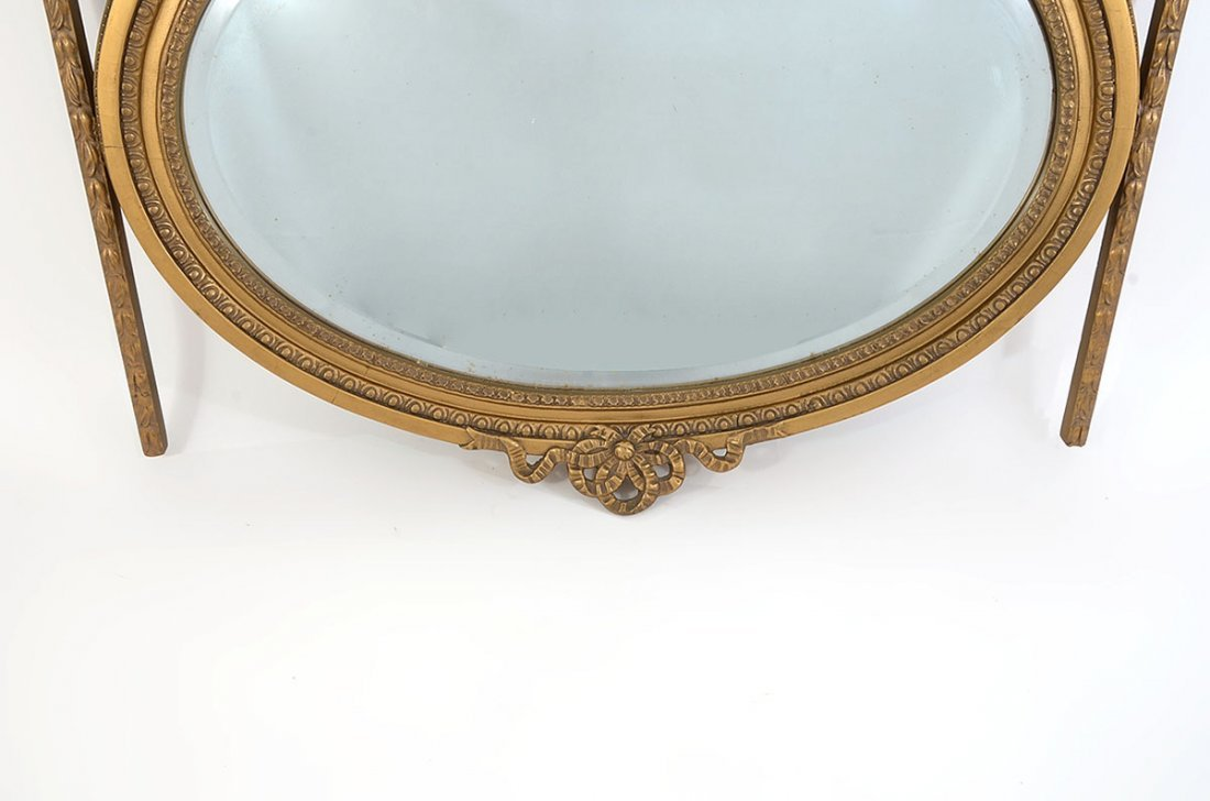 FRENCH EMPIRE GESSO WALL MIRROR - 3