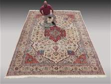 """INDO-PERSIAN HAND KNOTTED WOOL RUG, 12' X 17'5"""""""