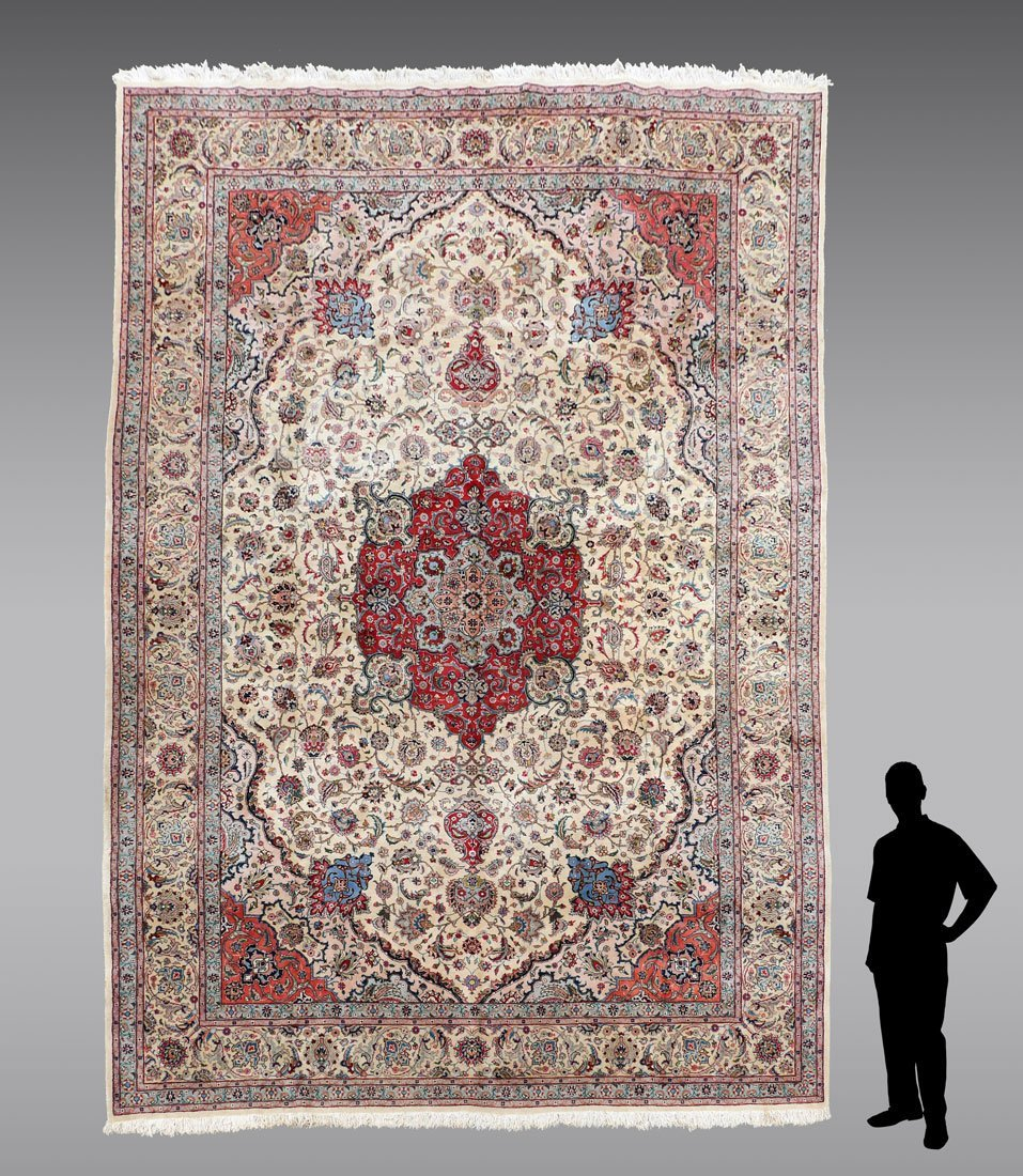"INDO-PERSIAN HAND KNOTTED WOOL RUG, 12' X 17'5"" - 2"