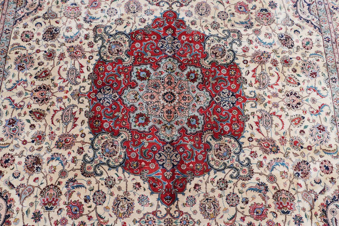 "INDO-PERSIAN HAND KNOTTED WOOL RUG, 12' X 17'5"" - 3"