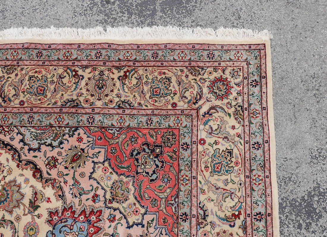 "INDO-PERSIAN HAND KNOTTED WOOL RUG, 12' X 17'5"" - 4"