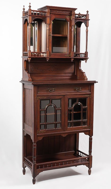 CARVED WALNUT VICTORIAN ETAGERE