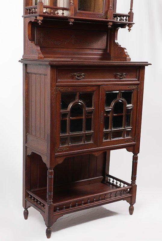 CARVED WALNUT VICTORIAN ETAGERE - 3