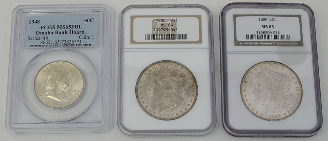 3 PIECE NGC & PCGS GRADED US SILVER COINS