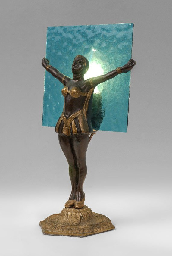 ART DECO FIGURAL MAIDEN TABLE LAMP