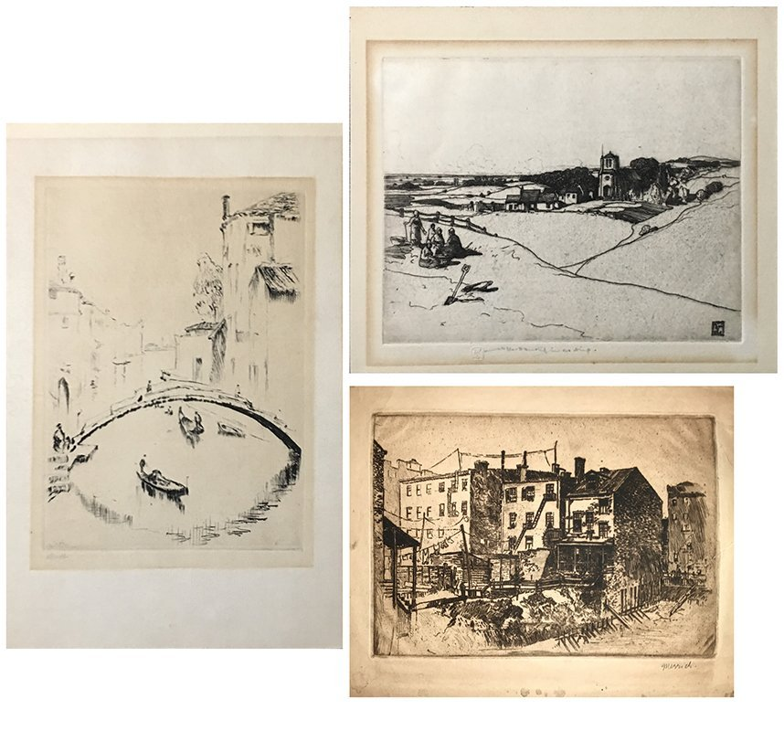 MERRICK, HANKEY, STRUCK ETCHINGS