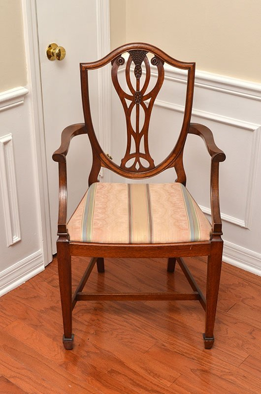 10 BERESFORD & HICKS SHIELD BACK DINING CHAIRS - 2