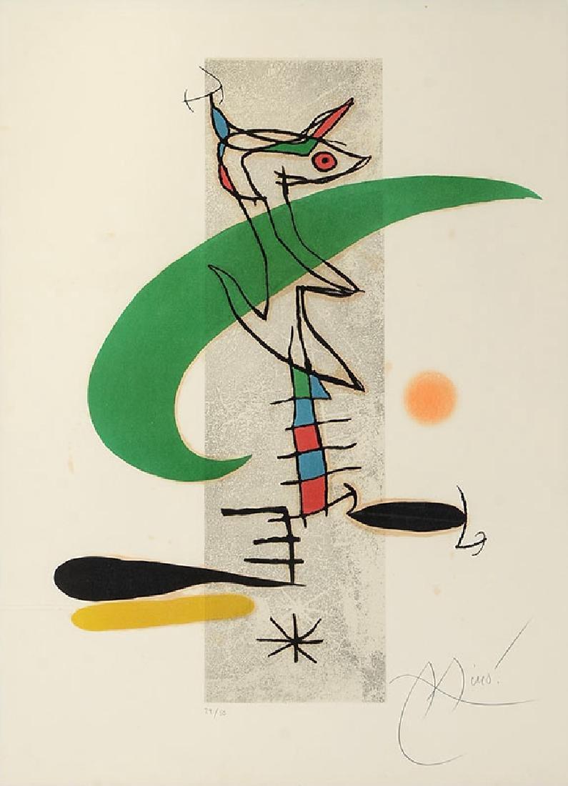 JOAN MIRO ''LA TRANSLUNAIRE'' ETCHING & AQUATINT