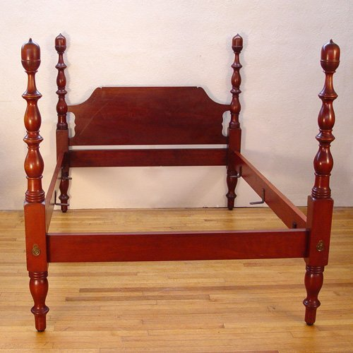 5: CARVED MAHOGANY  ACORN TALL POSTER BED
