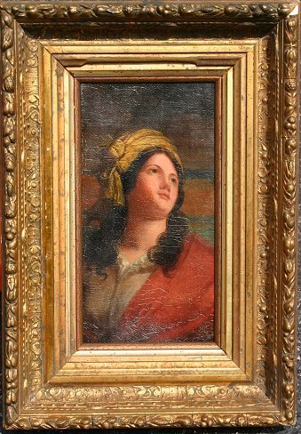 9: 19TH C PAINTING OF A MAIDEN