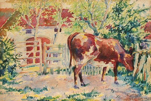 19: ROGER GOBRON COW PAINTING 1921