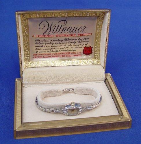 366: LONGINES - WITTNAUER LADIES DIAMOND WATCH