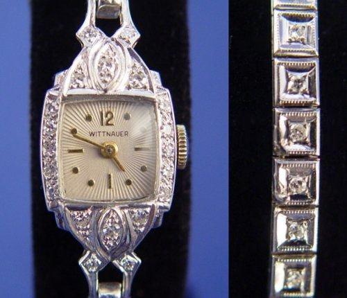 366: LONGINES - WITTNAUER LADIES DIAMOND WATCH - 2