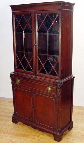 208a Diminutive 1940 S Fine Mahogany China Cabinet