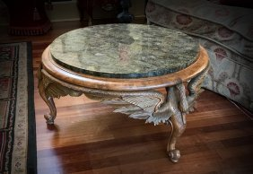 Horchow Winged Figural Swan Coffee Table