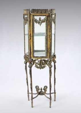 Diminutive Rococo Style Display Cabinet