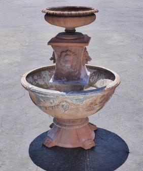 Cast Aluminum Lion Masqueron Outdoor Fountain