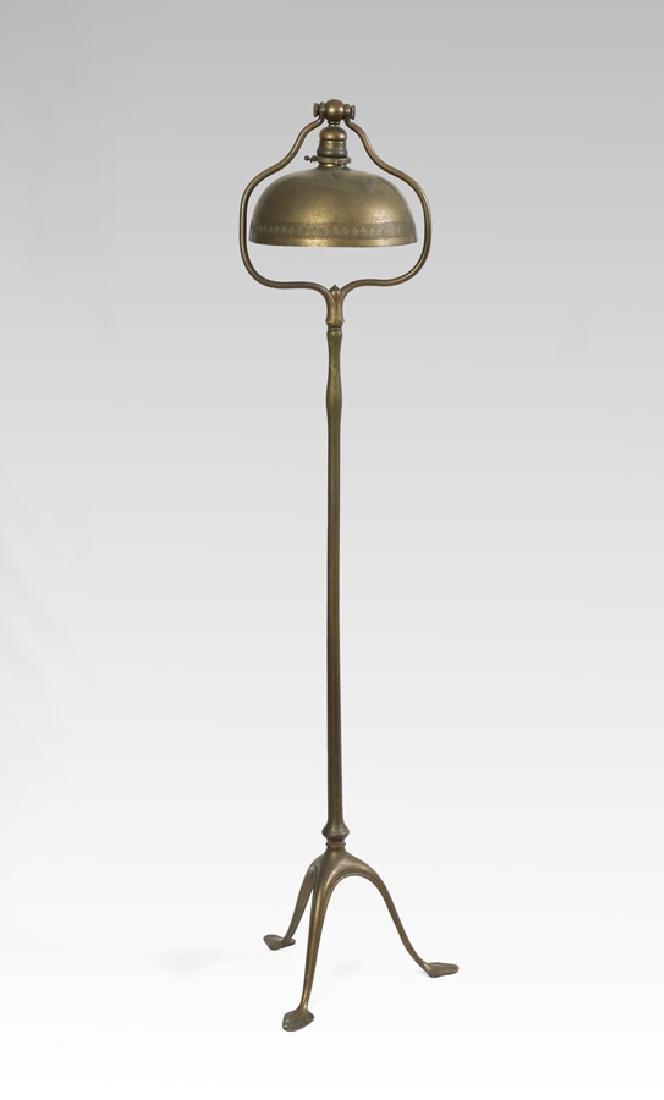 TIFFANY STUDIOS BRONZE FLOOR LAMP #423