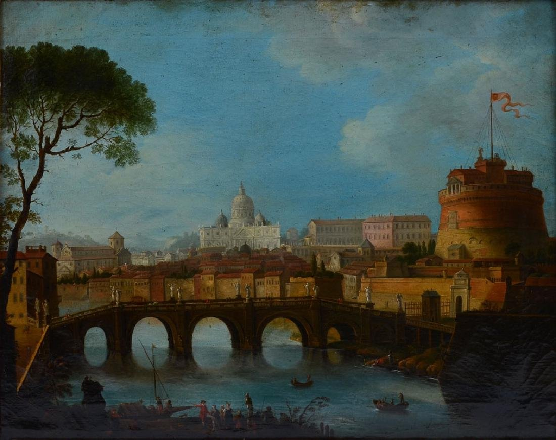 EARLY PAINTING OF THE TIBER, ROME BY JOLI?