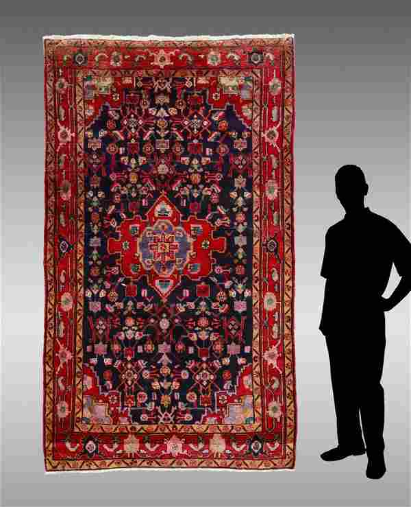 """20-40 YR OLD PERSIAN HAND KNOTTED WOOL RUG, 5' X 8' 8"""""""