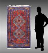 PERSIAN HAND KNOTTED WOOL RUG, 3' X 5'4""