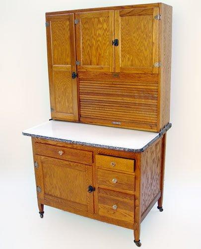 Sellers Kitchen Cabinet: 1137: SELLERS OAK HOOSIER KITCHEN CABINET