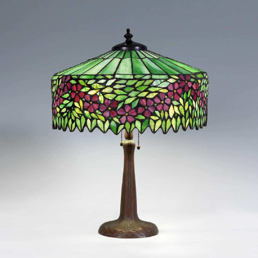 HANDEL APPLE BLOSSOM LEADED GLASS LAMP